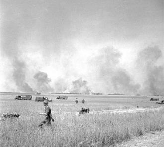 Operation Totalise, Walking through fields, Aug 1944