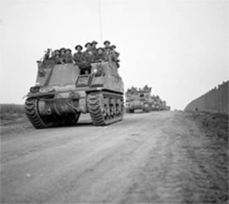 Operation Totalise, Troops on the move, Aug 1944