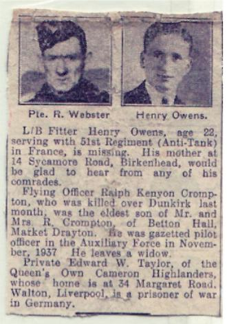 Newspaper Clipping on Henry Owens