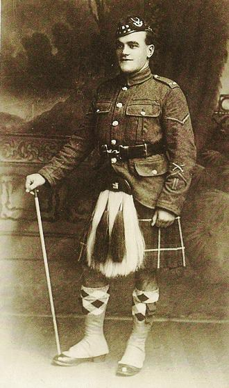 Solider of the Seaforth Highlanders