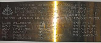 Memorial Plaque, Nairn Old Parish Church