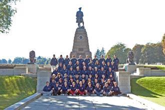 2nd Bn. Highlanders ACF at Beaumont Hamel Memorial