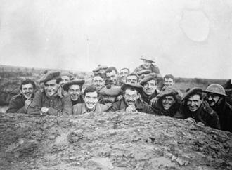 Men of Gordons in a reserve trench