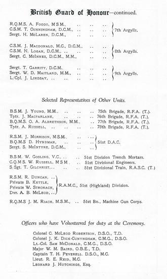 Beaumont-Hamel Memorial Programme (page 6)