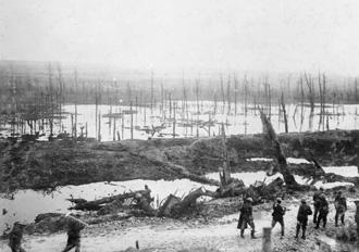 Flooding in Ancre Valley, Nov 1916