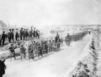 Black Watch, Fricourt-Albert Road, Aug 1916