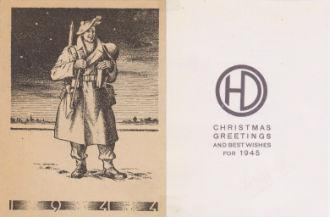 51HD Christmas Card 1944