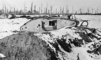 Knocked out Tank, Flesquieres Ridge