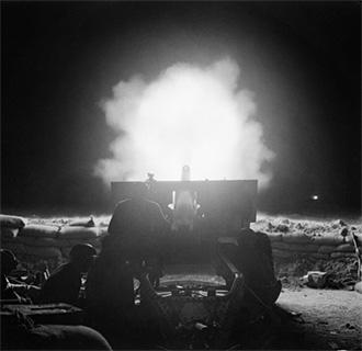 25lb Gun Firing, El Alamein, 23 Oct '42