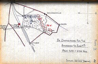 Bn dispositions June 9th, 1400-2130 hrs