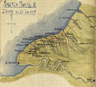Major Grant Map (No11), Dieppe to St Valery