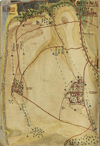 Major Grant Sketch Map (No.14), Le Tot & St. Sylvan