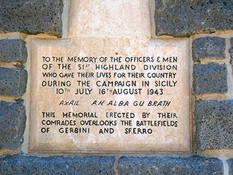 Sferro Memorial Inscription