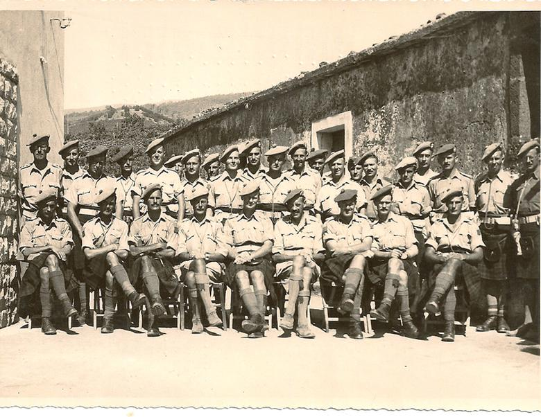 5th Camerons (Officers), Fleri, Aug 1943
