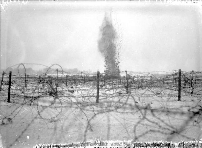 Shell bursting, Beaumont Hamel