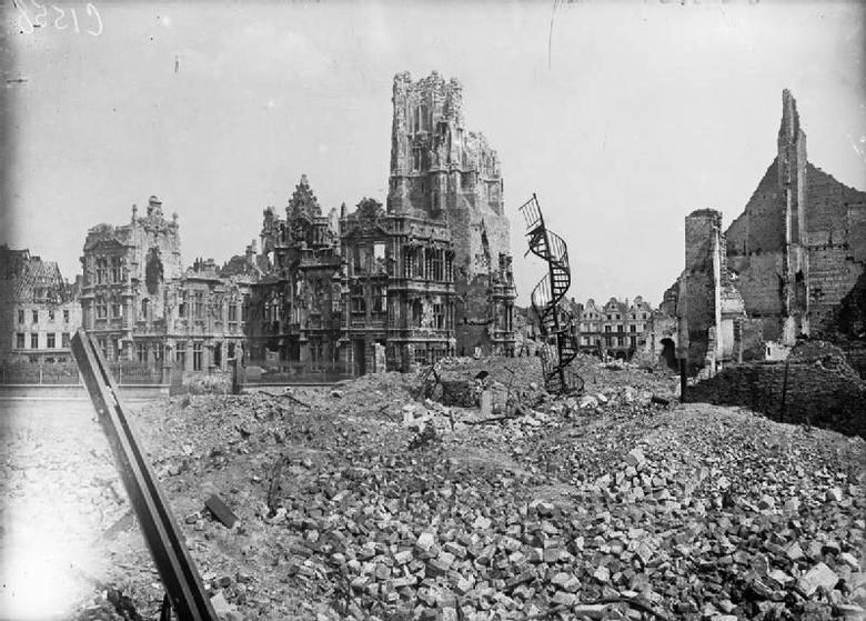 Ruined Town Hall, Arras