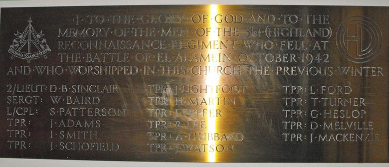 Memorial Plaque, Nairn Old Parish Church
