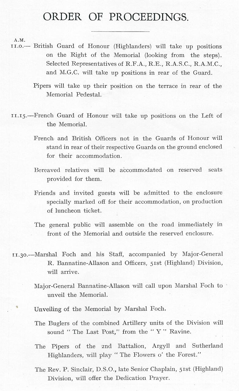 Beaumont-Hamel Memorial Programme (page 3)