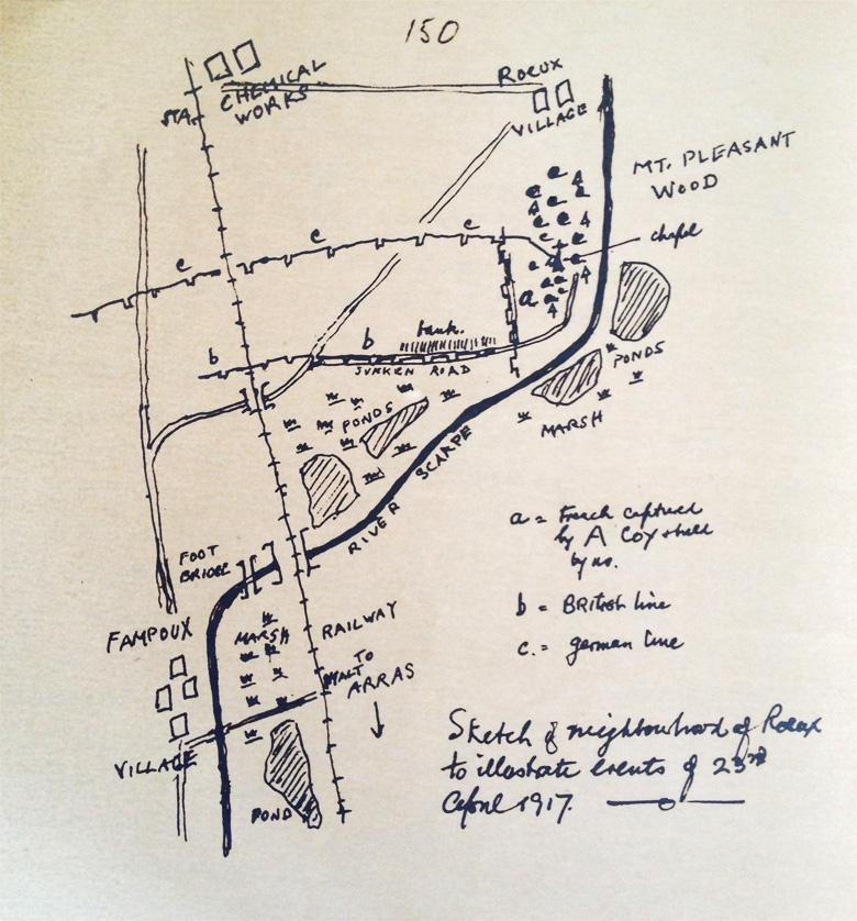 Pte. MacPherson Sketch Fampoux to Roeux