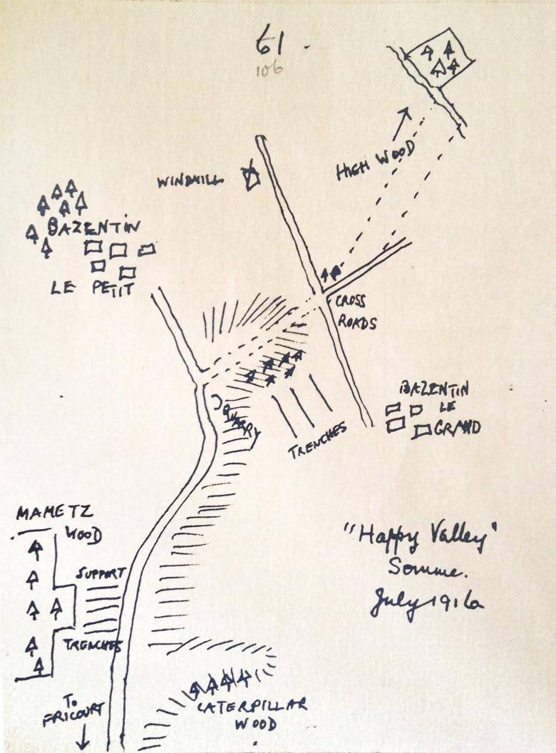 "Pte. MacPherson Sketch ""Happy Valley"""