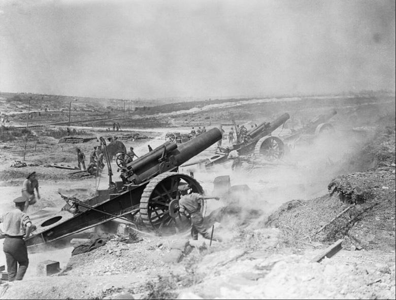 8-inch Howitzers, Fricourt-Mametz Valley, 1916