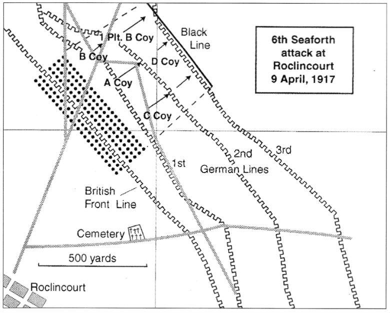 6th Seaforth Attack at Roclincourt, Arras