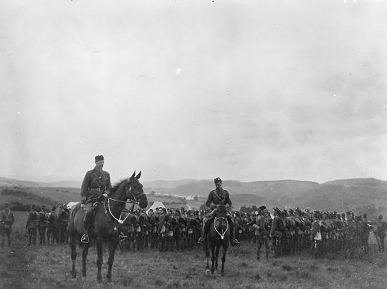 8th Royal Scots in camp, 1914