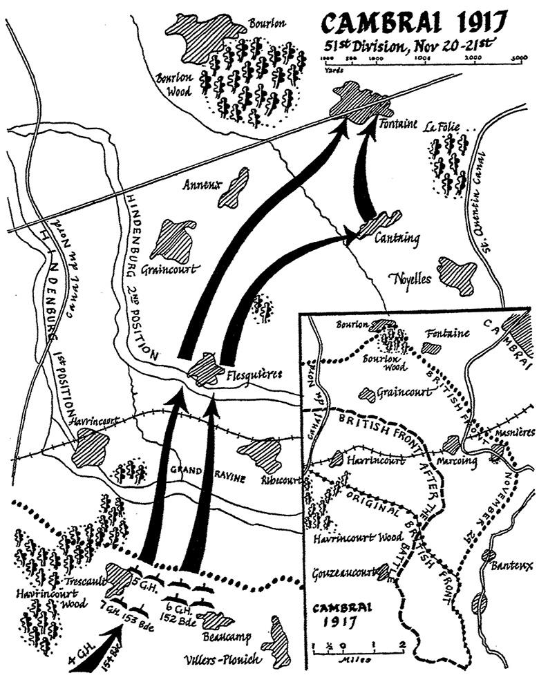 Cambrai Map, Gordons