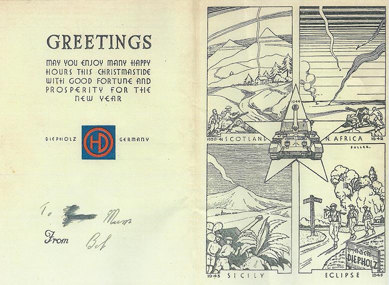 61st Anti-Tank Reg. Christmas Card Greeting