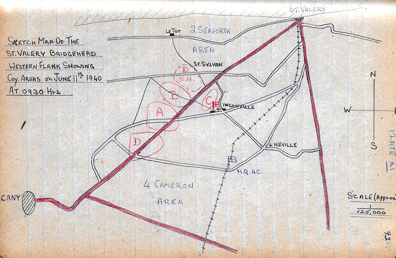 St. Valery Western Flank June 11th 1940 at 0930 hrs