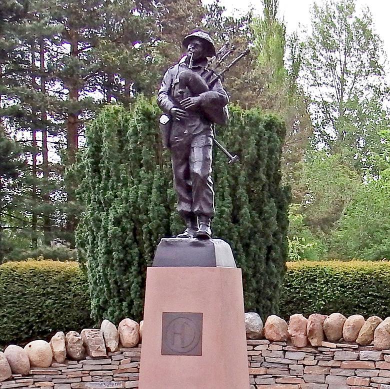 Statue in Blackwatch Museum Garden