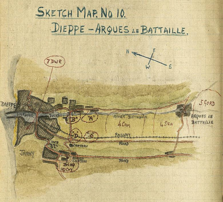 Major Grant Map (No.10), Dieppe