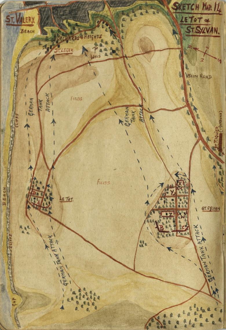 Major Grant Sketch Map (No.14), Le Tot & St. Sylvan