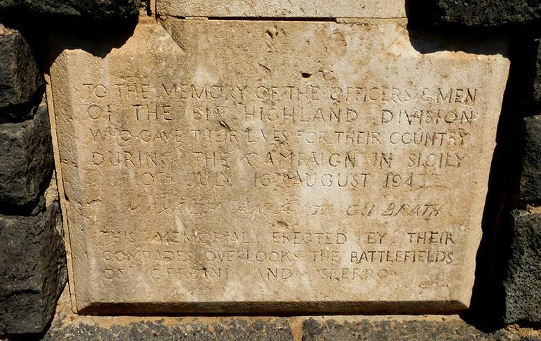 Sferro Memorial Inscription