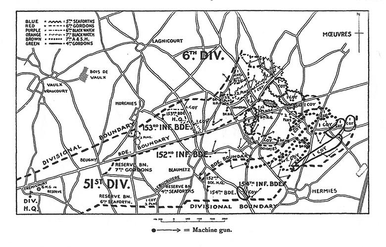 Map of the 1918 German Offensive
