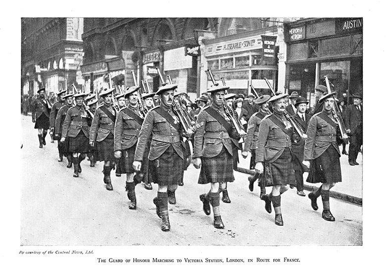 Guard of Honour, Victoria Station