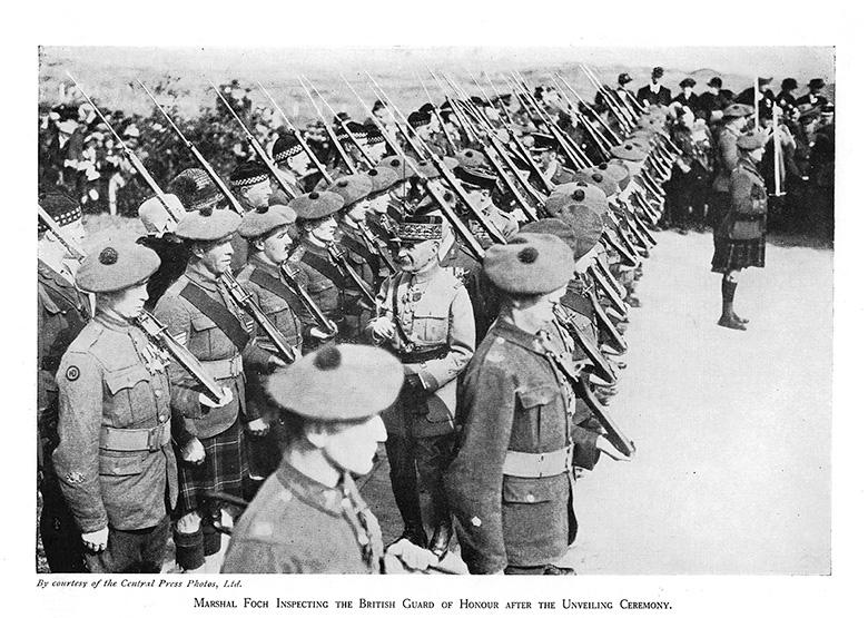 Marshal Foch inspecting Guard of Honour