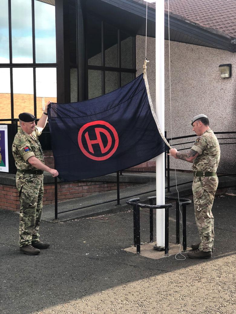 51st Highland Division Flag, VE Day 2020