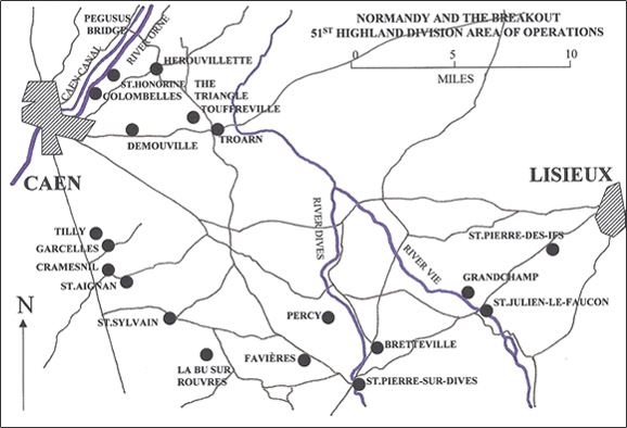 Area of Operations, Normandy, Jun-Jul 1944