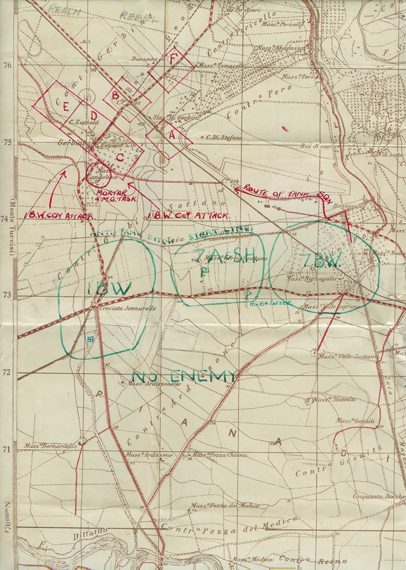 Map of Gerbini Attack
