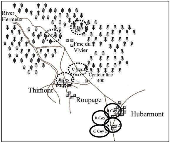 Attack on Hubermont, 12-13 Jan 1945