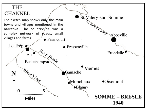 Map of Somme-Bresle, 1940