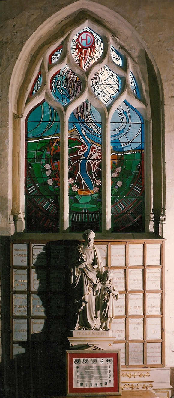 St Valéry Stained Glass window