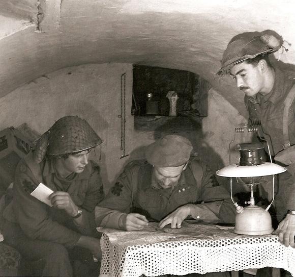 Underground HQ, Gennep, 14 Feb 1945