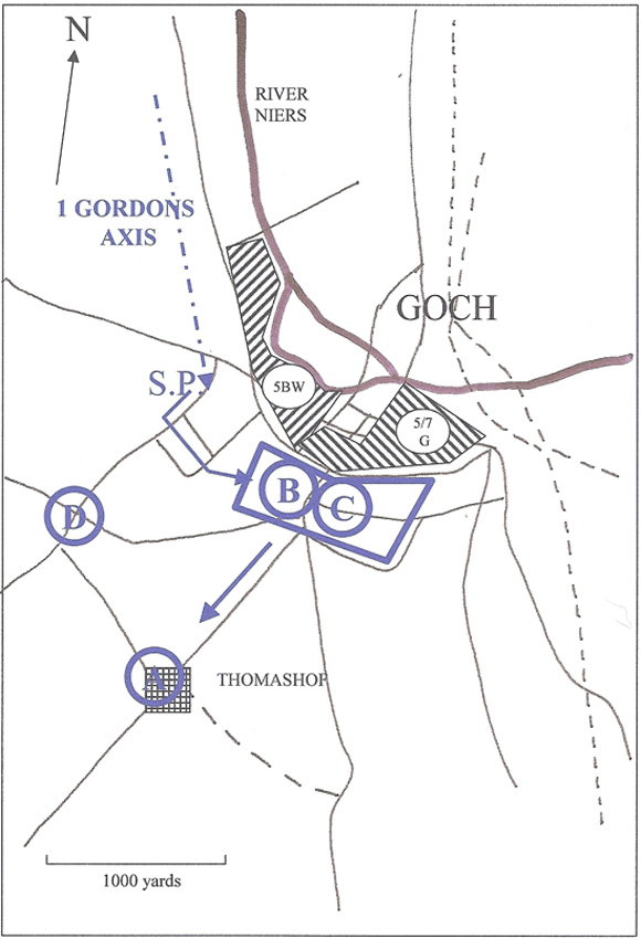 1st Gordons attack on Goch, Feb 1945