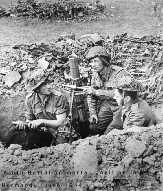 Mortar Position, Normandy, June 1944