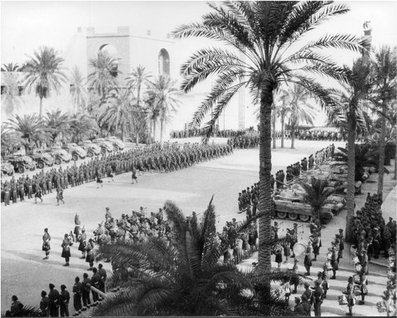 7th Black Watch - Victory Parade, Tripoli, 23rd Jan 1943