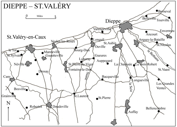 Map of Dieppe - St. Valery