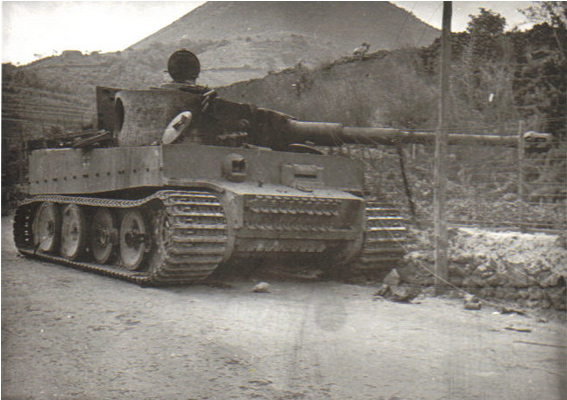 Knocked out Tiger Tank, Sicily, 1943