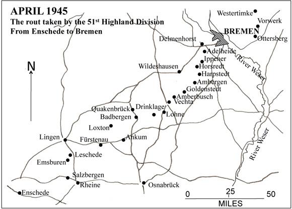Enschede to Bremen, Apr 1945